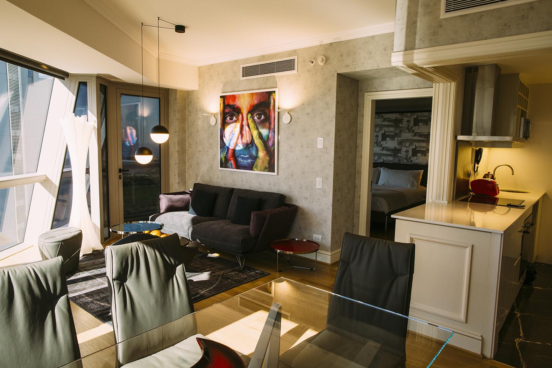 Stylish living area at Alvear Icon Apartments