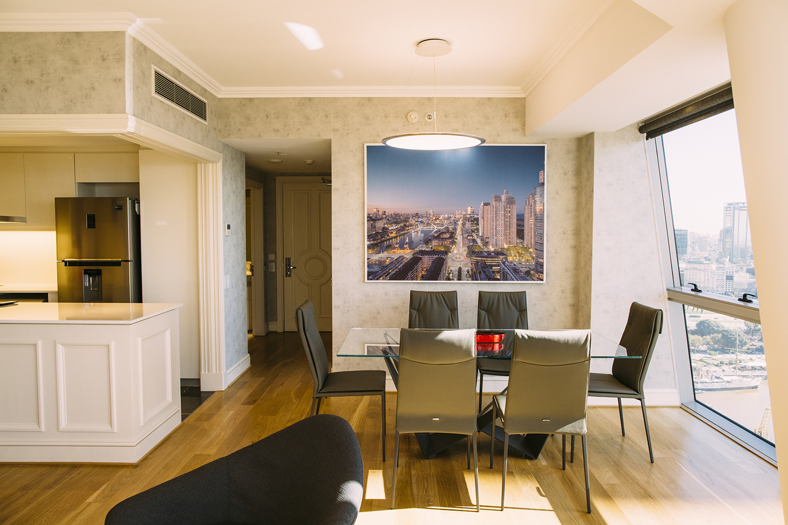 Dining area at Alvear Icon Apartments