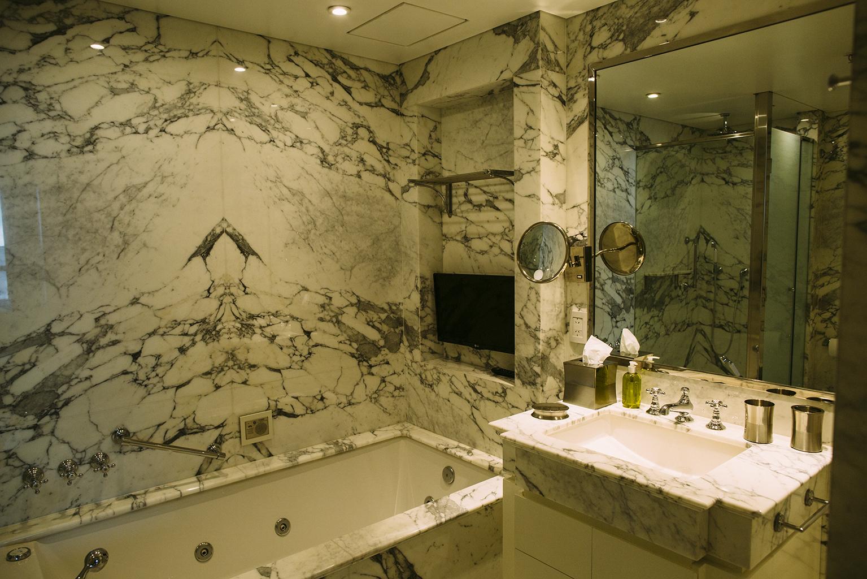 Stylish bathroom at Alvear Icon Apartments