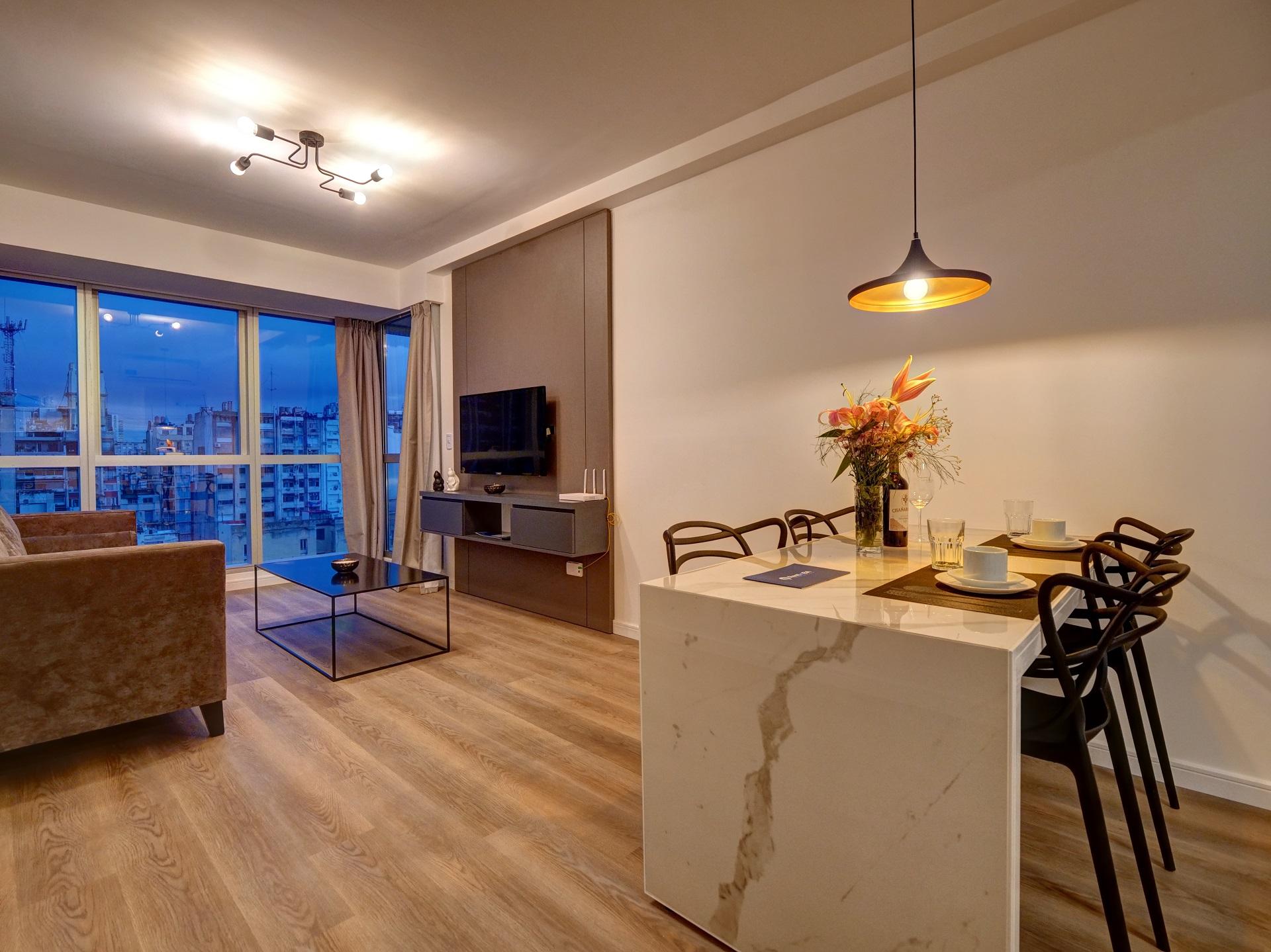 Dining area at Bellini Esmeralda Apartments