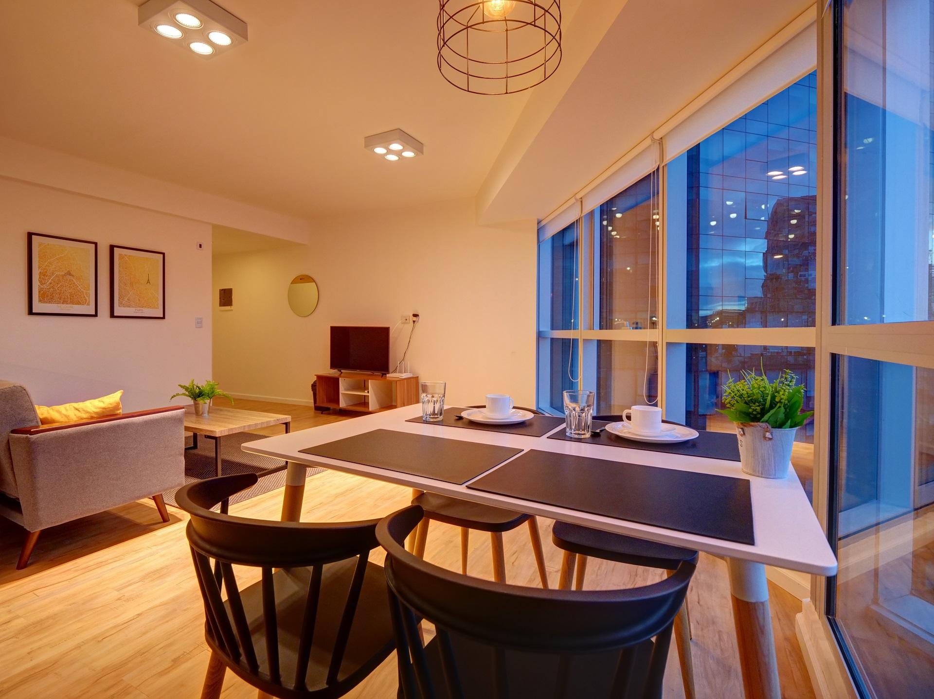 Dining table at Bellini Esmeralda Apartments