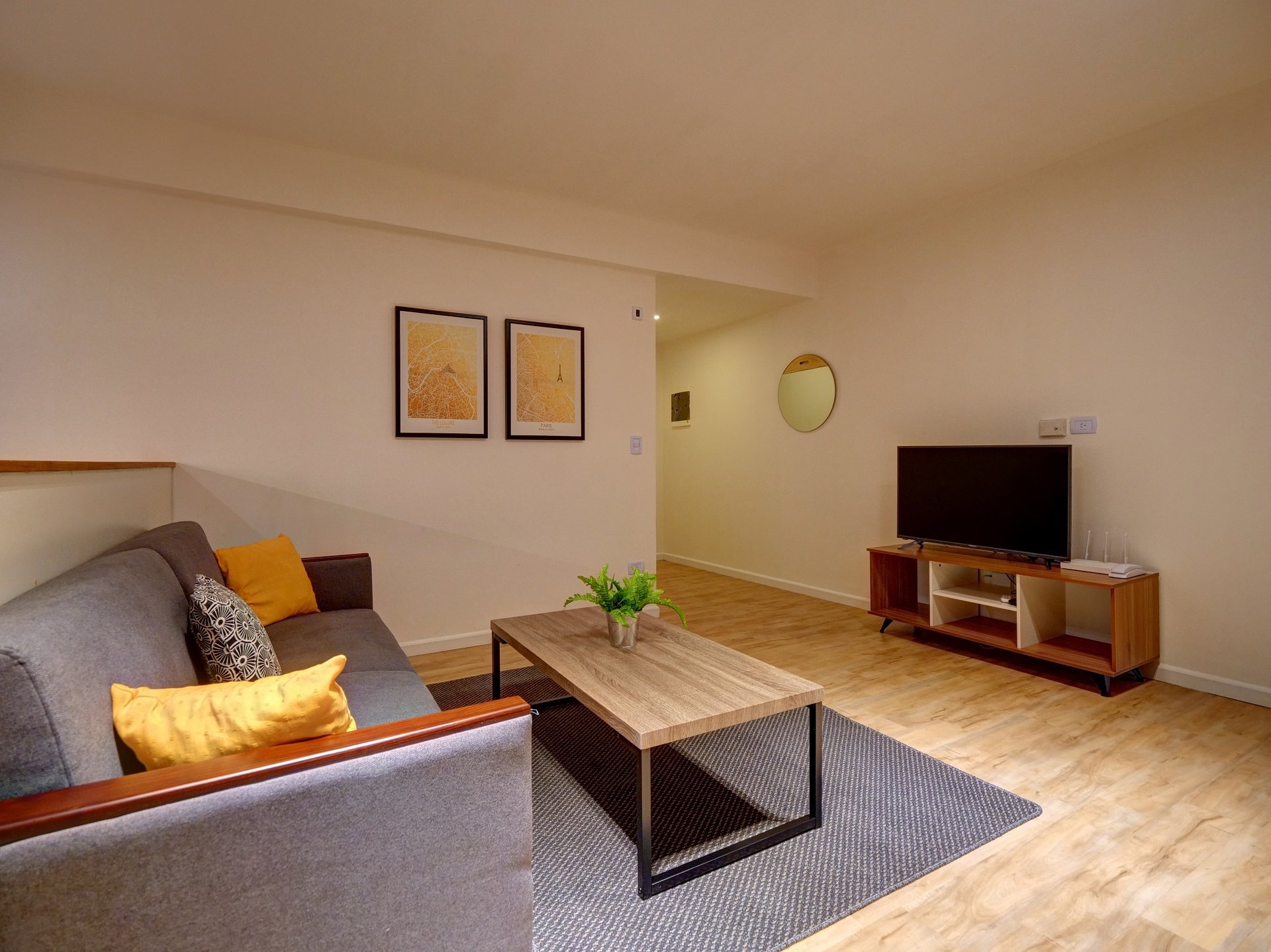 Coffee table at Bellini Esmeralda Apartments