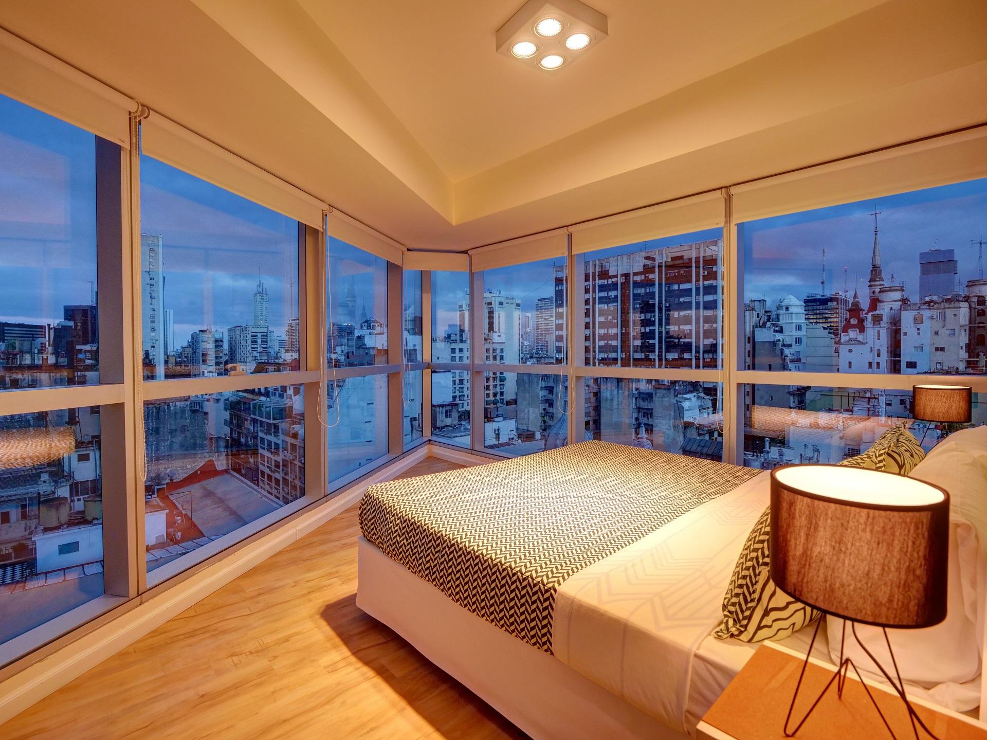 Wrap around windows at Bellini Esmeralda Apartments