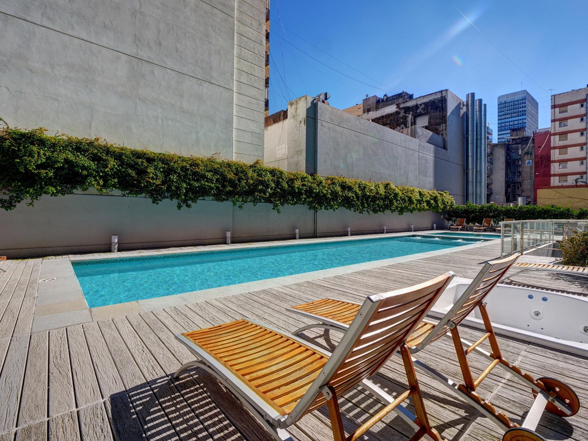 Sun lounger at Bellini Esmeralda Apartments, Monserrat, Buenos Aires