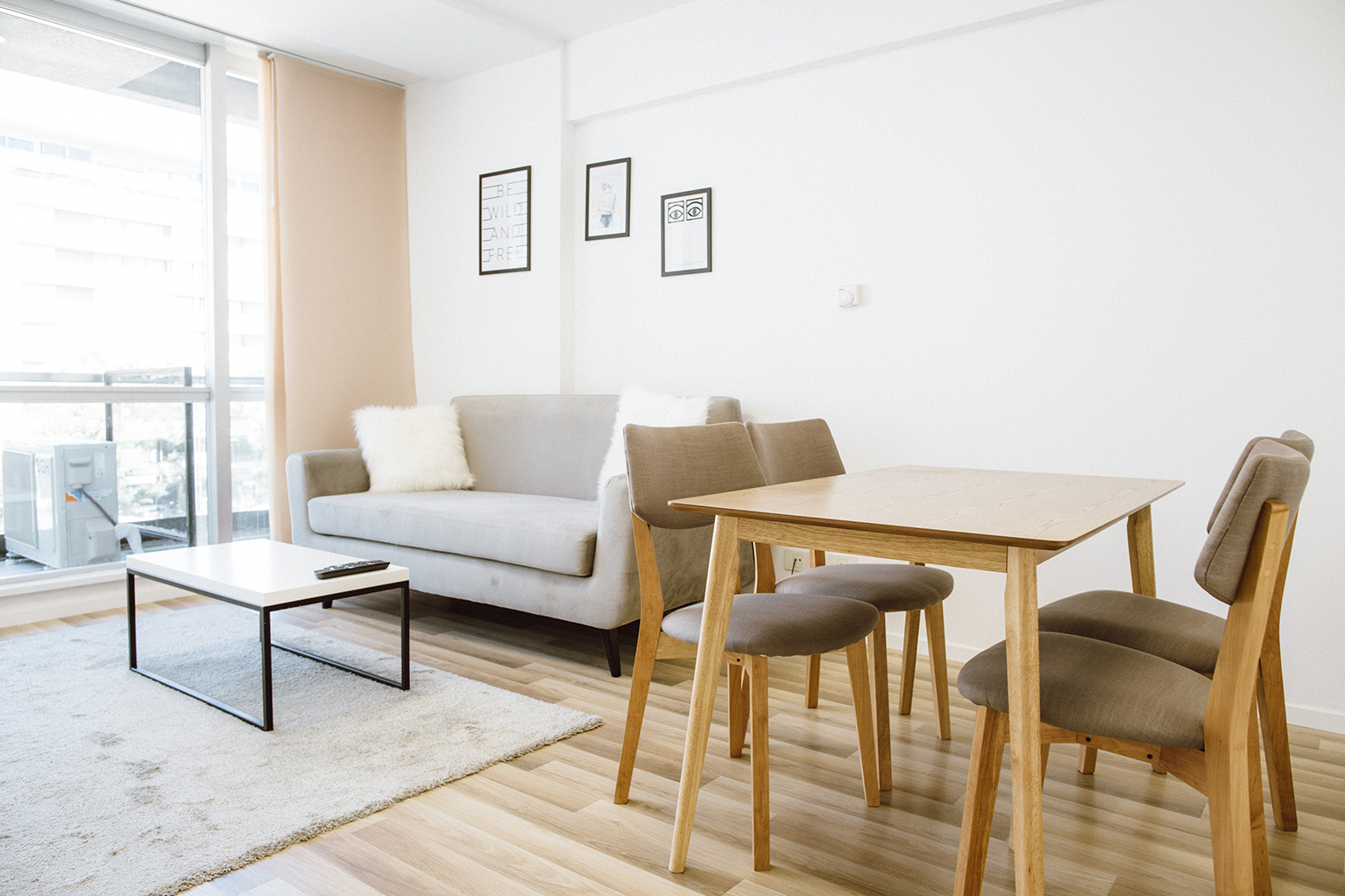 Living room at Lumiere Apartments