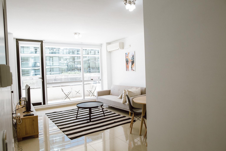Stylish lounge at Lumiere Apartments