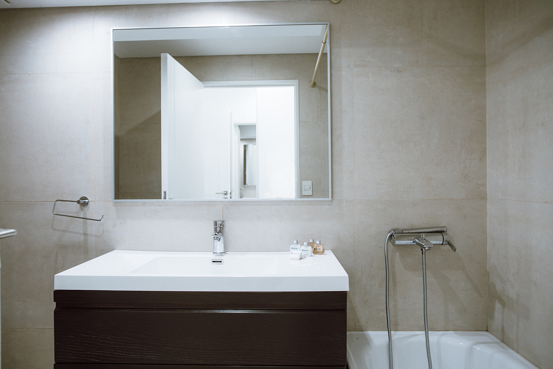 Bathroom at Lumiere Apartments