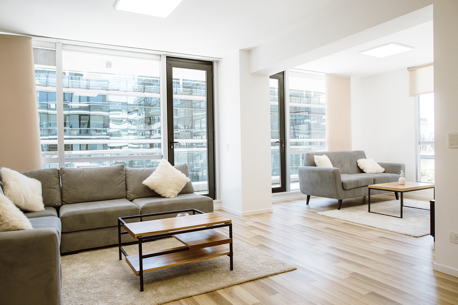 Large living room at Lumiere Apartments