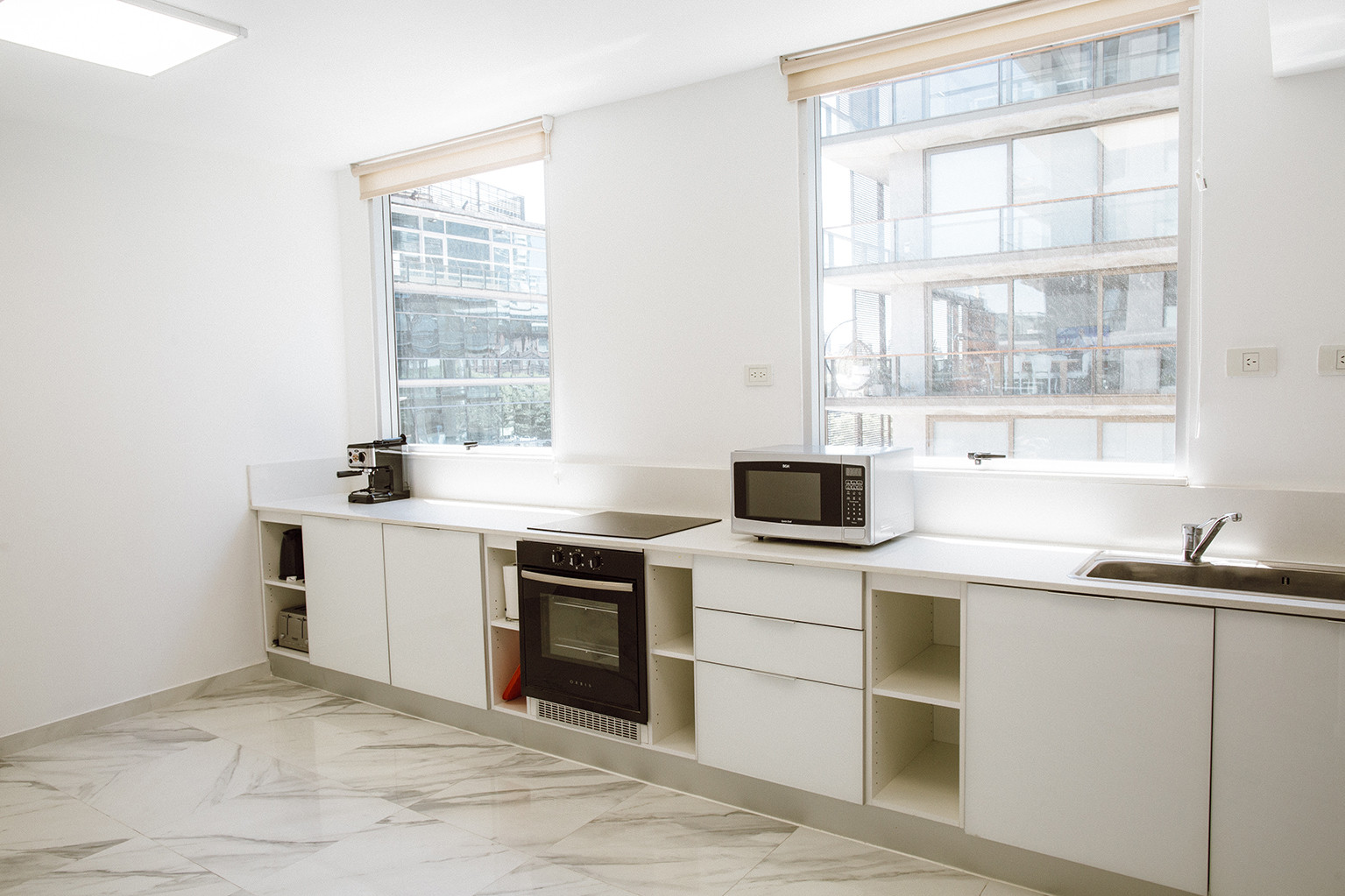 Kitchen area at Lumiere Apartments