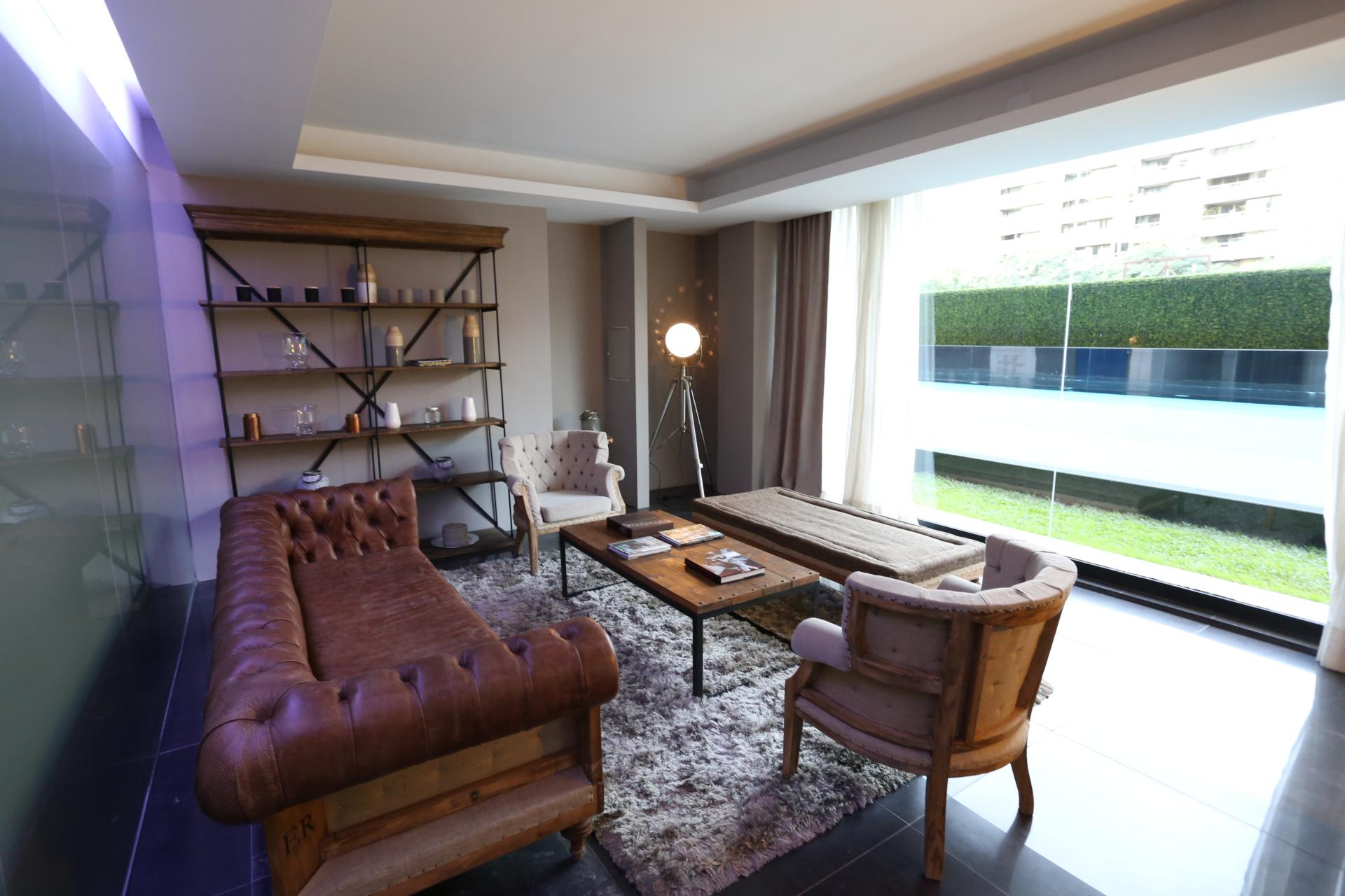 Charming living area at Lumiere Apartments