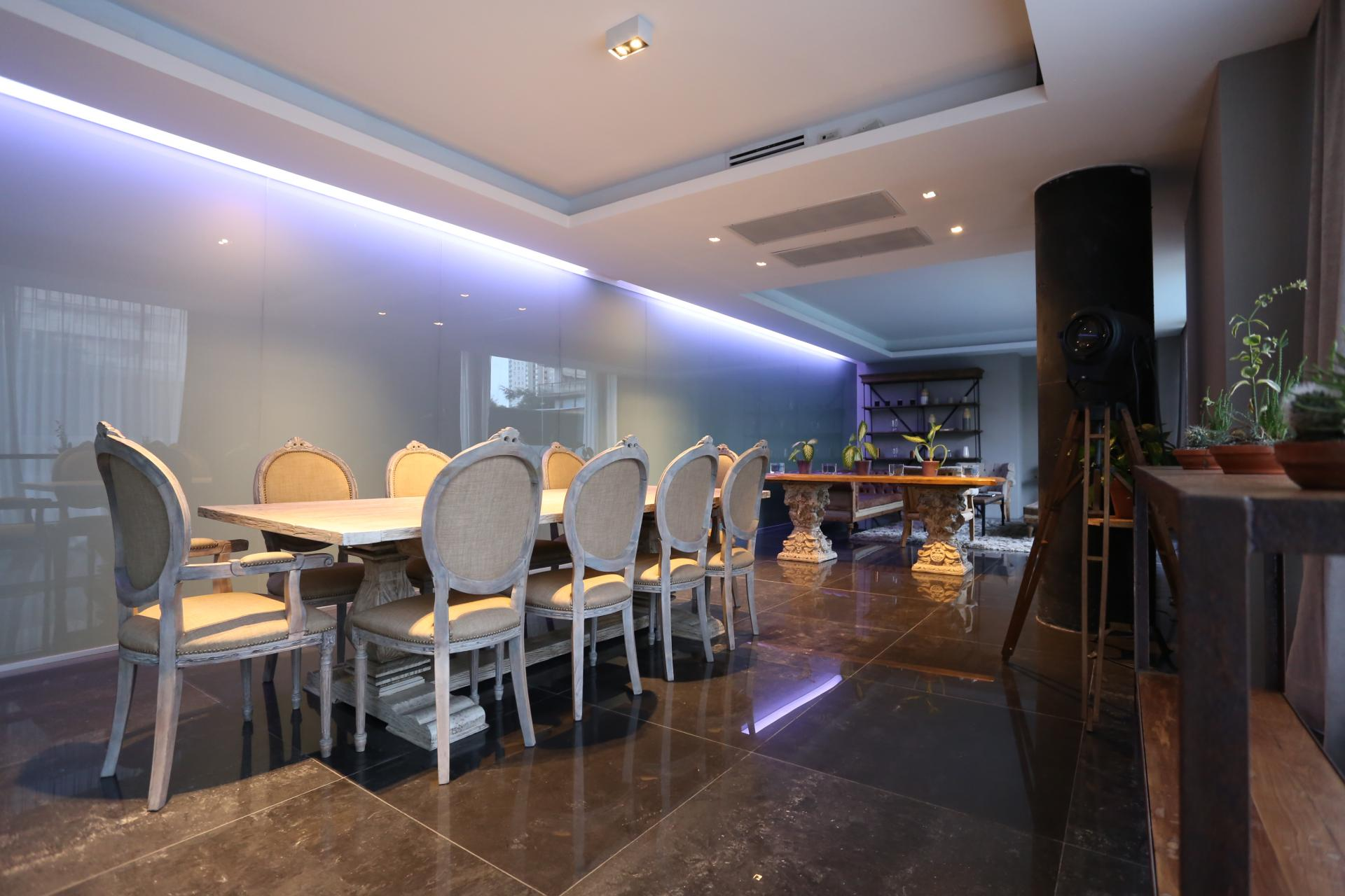 Dining area at Lumiere Apartments