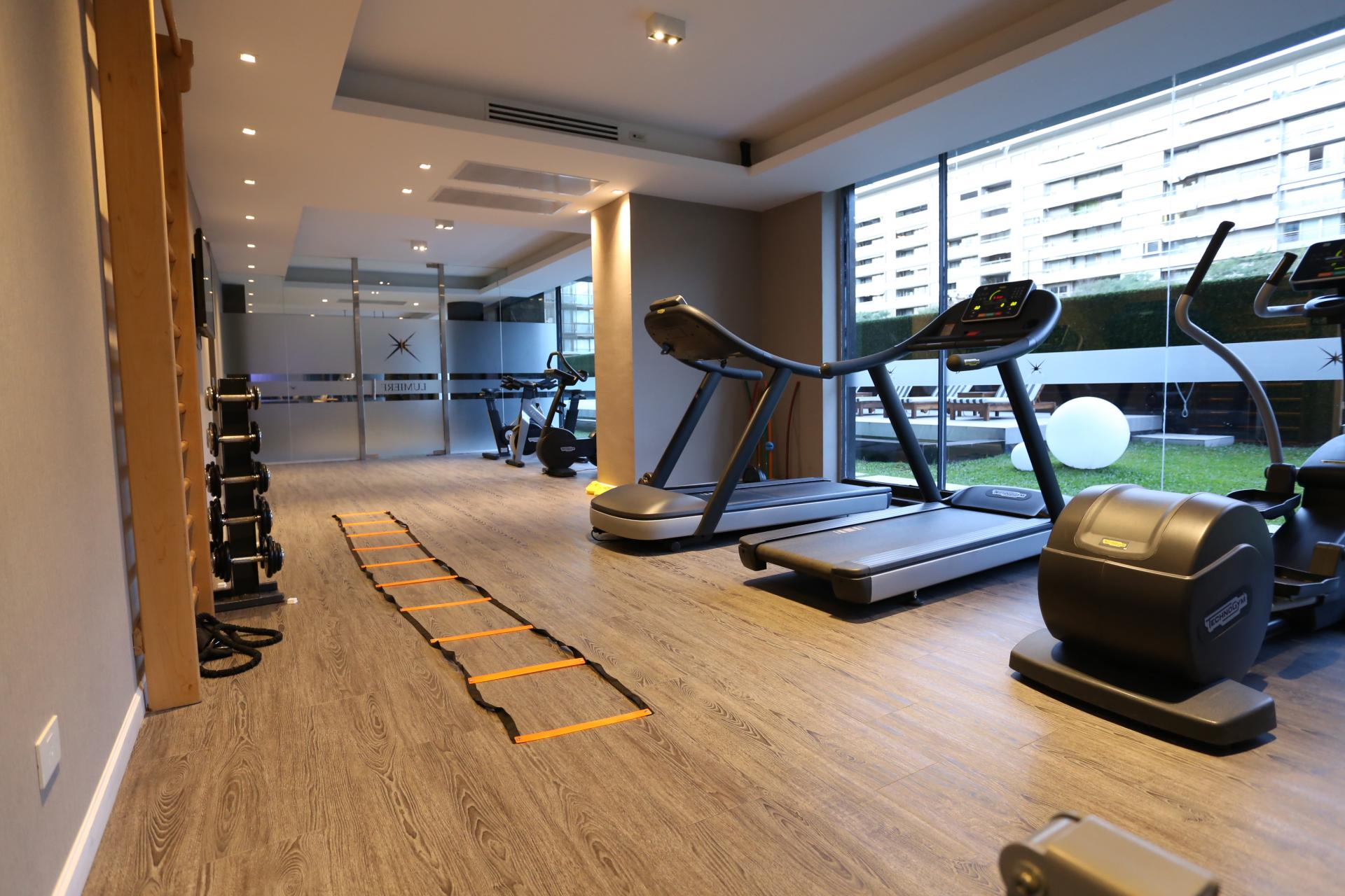 Gym at Lumiere Apartments
