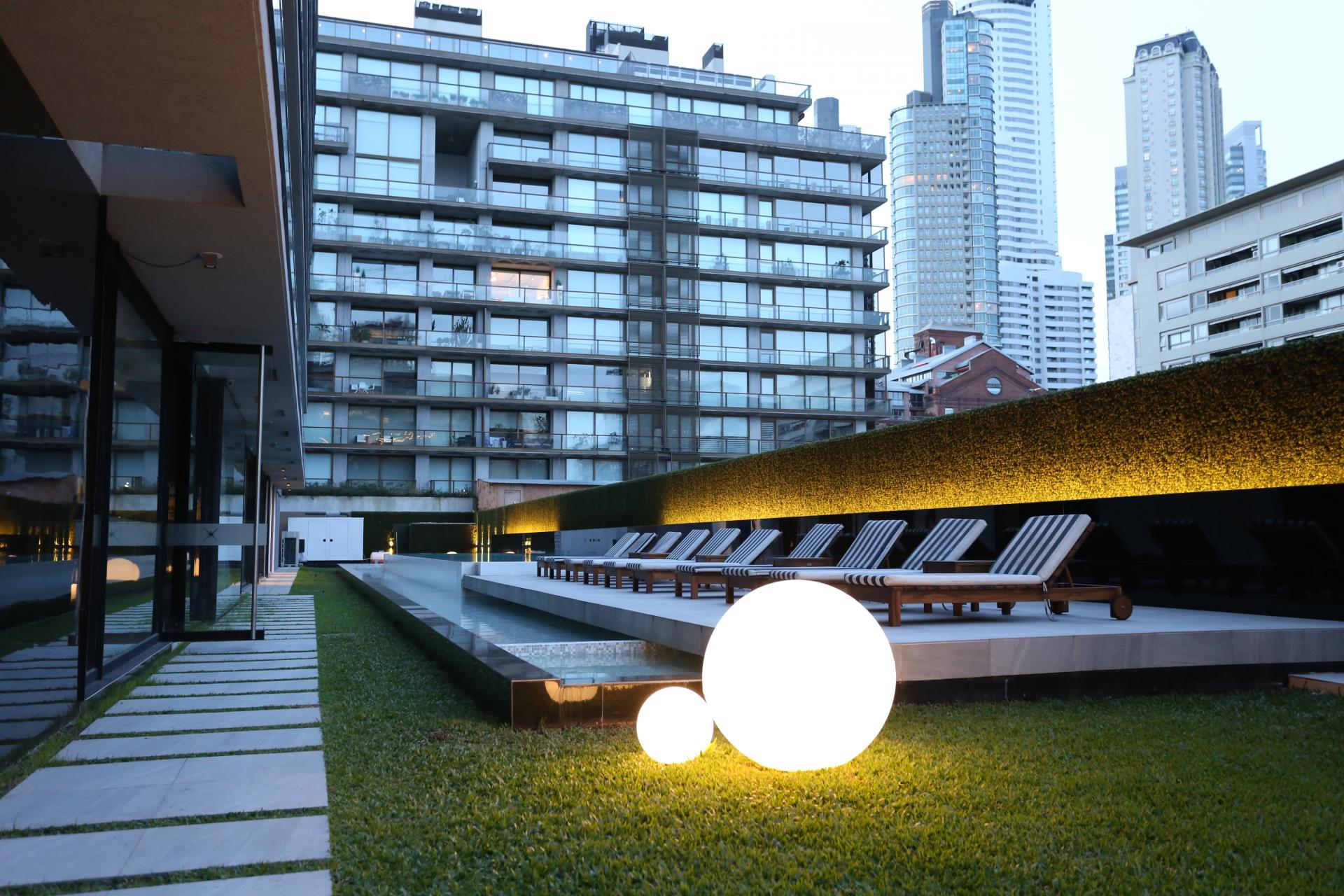 Outside area at Lumiere Apartments