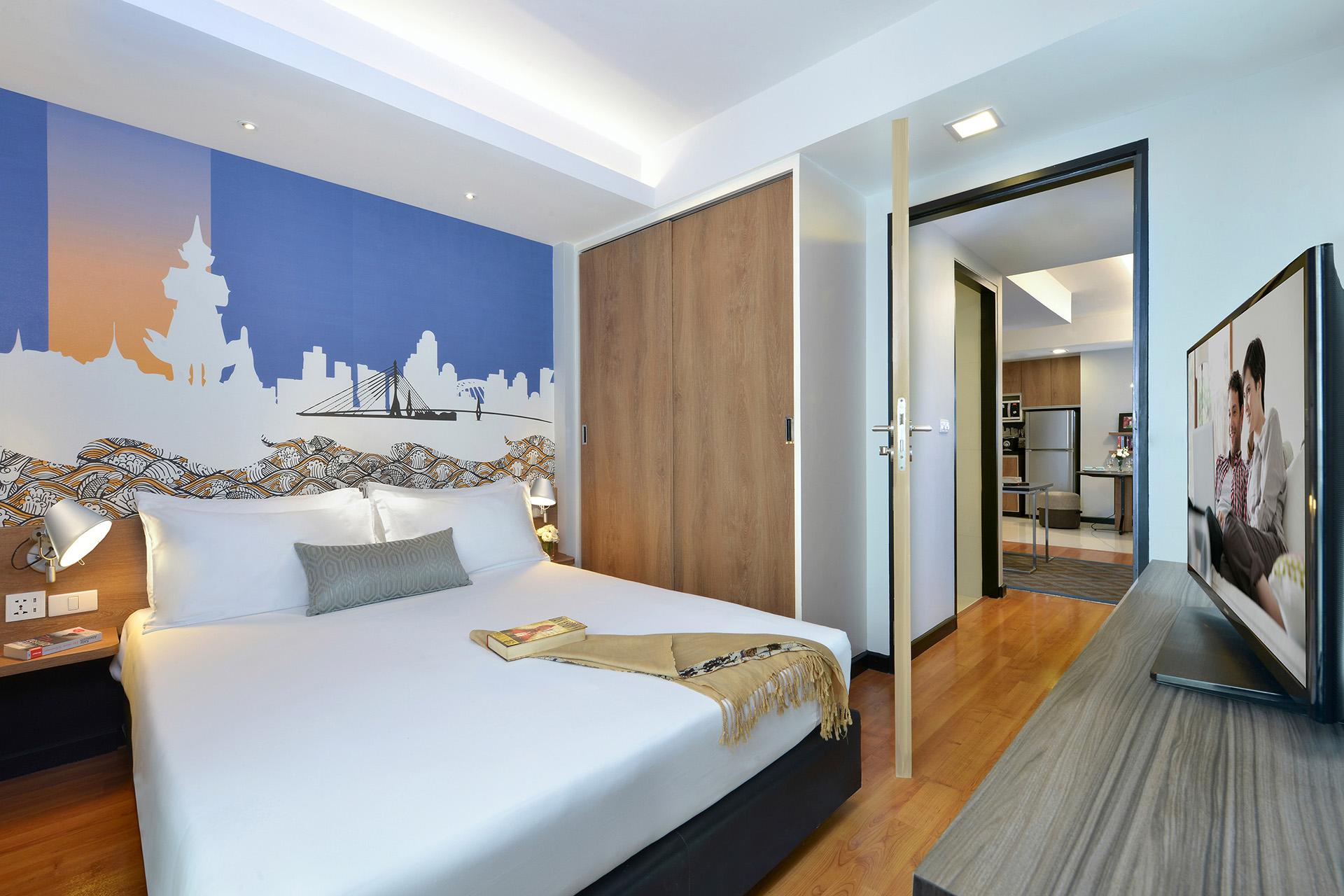 Bedroom at Citadines Sukhumvit 11 Apartments