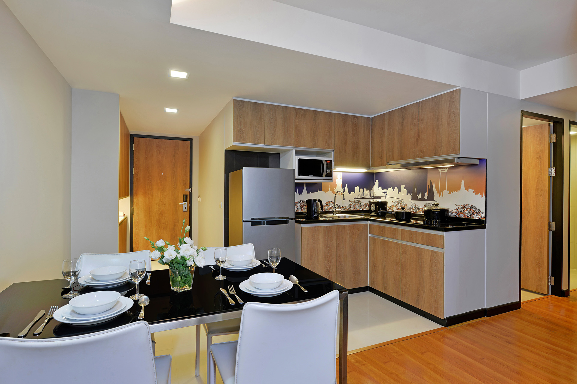 Dining table at Citadines Sukhumvit 11 Apartments