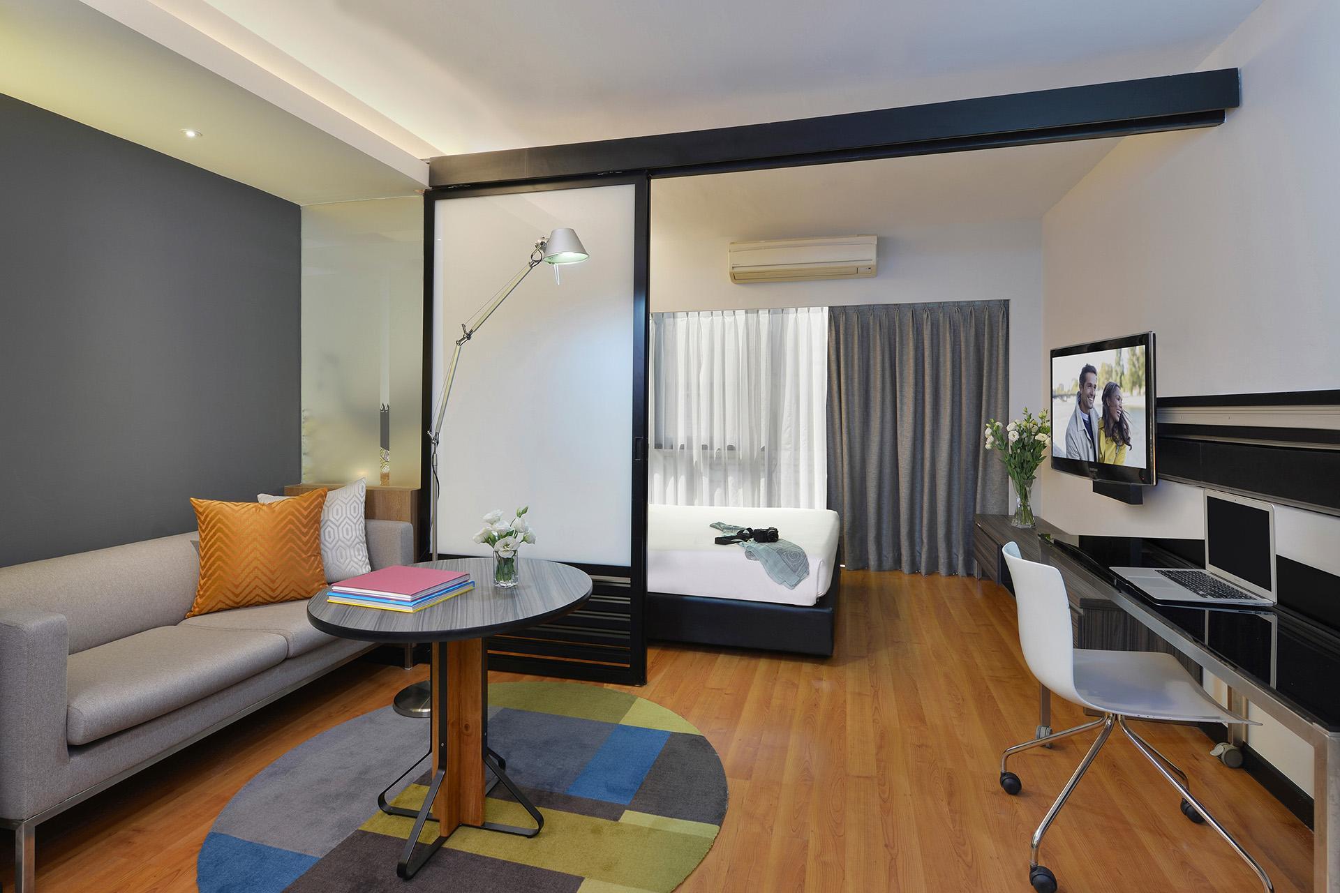 Desk area at Citadines Sukhumvit 11 Apartments