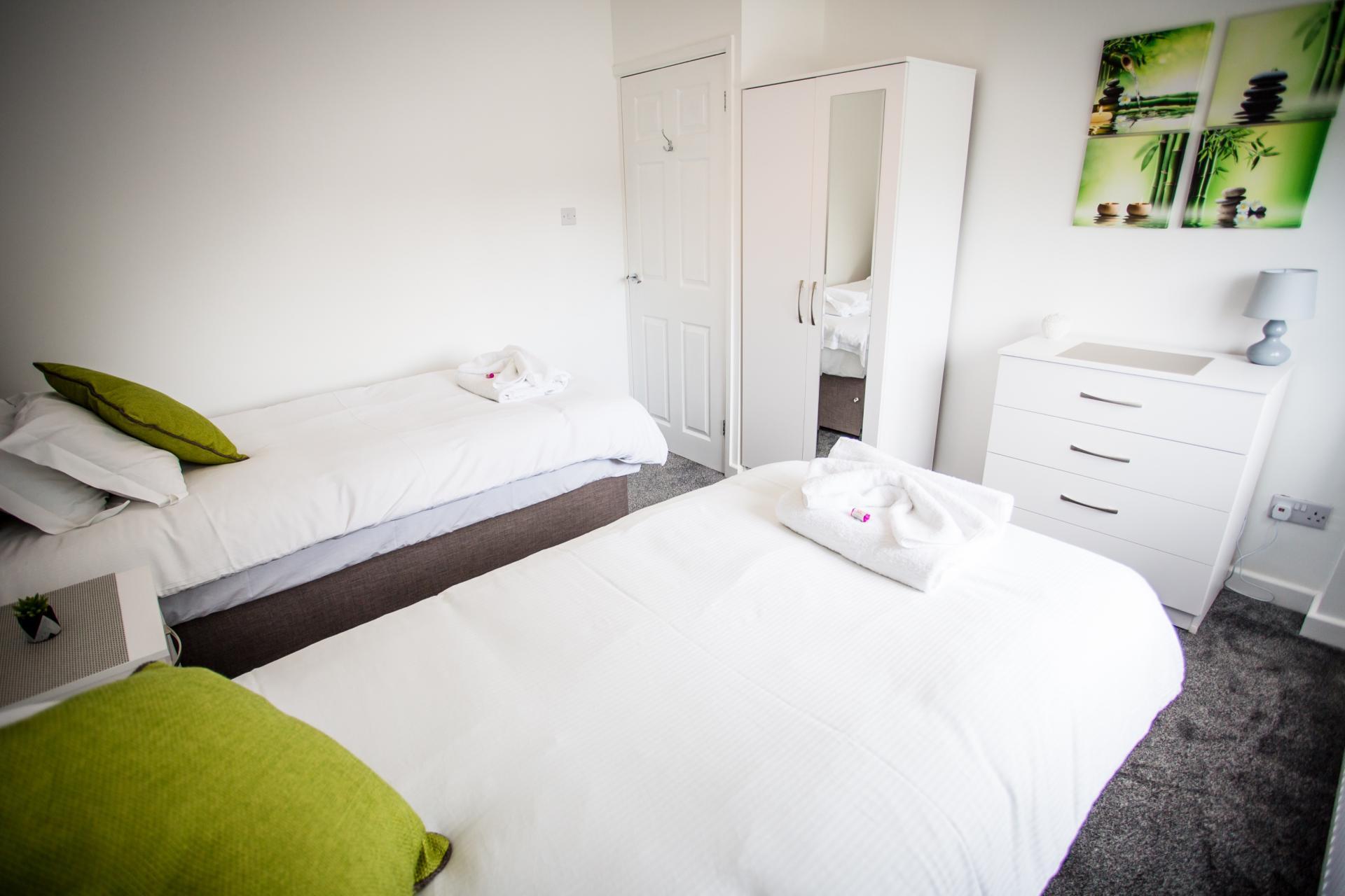 Modern bedroom at Comfort House Tamworth