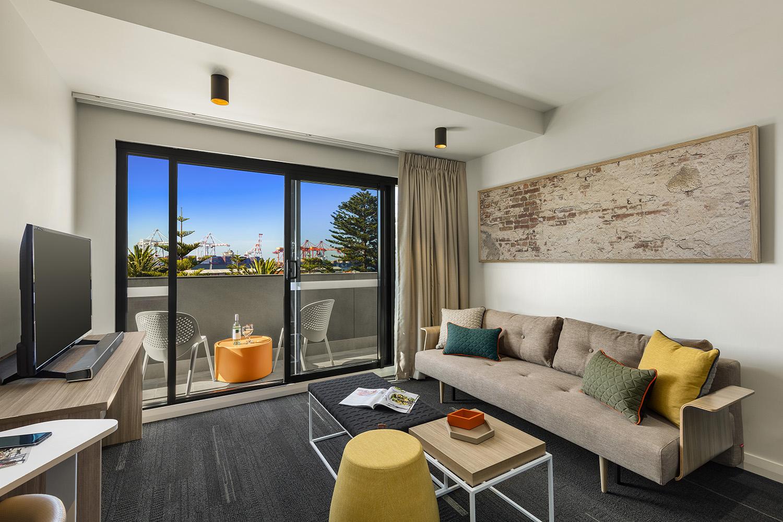 Living room at Quest Fremantle