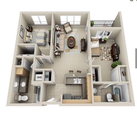 Floor plan at The Kennedy Apartment