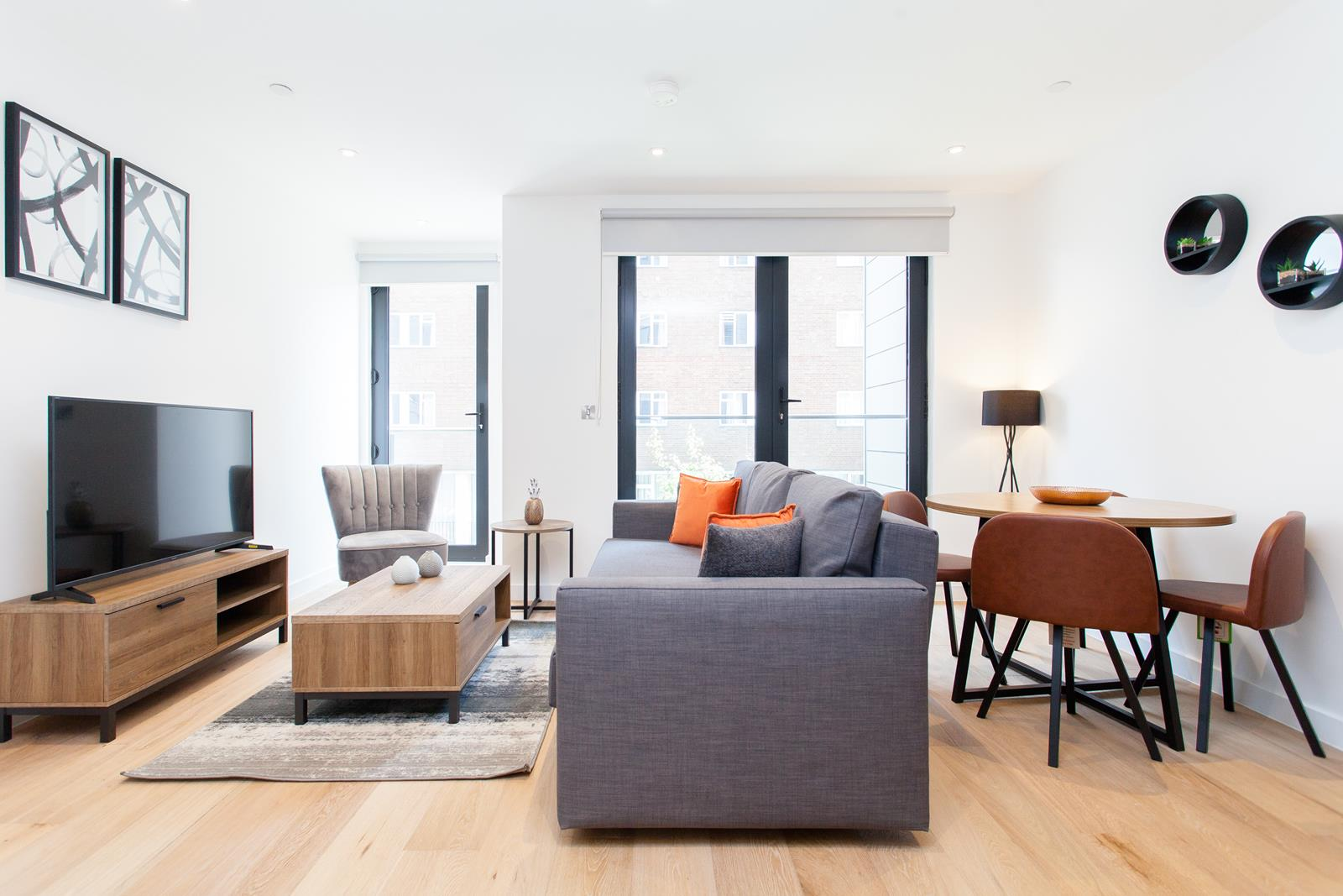 Bright lounge at The Lofts E1 By Q Apartments