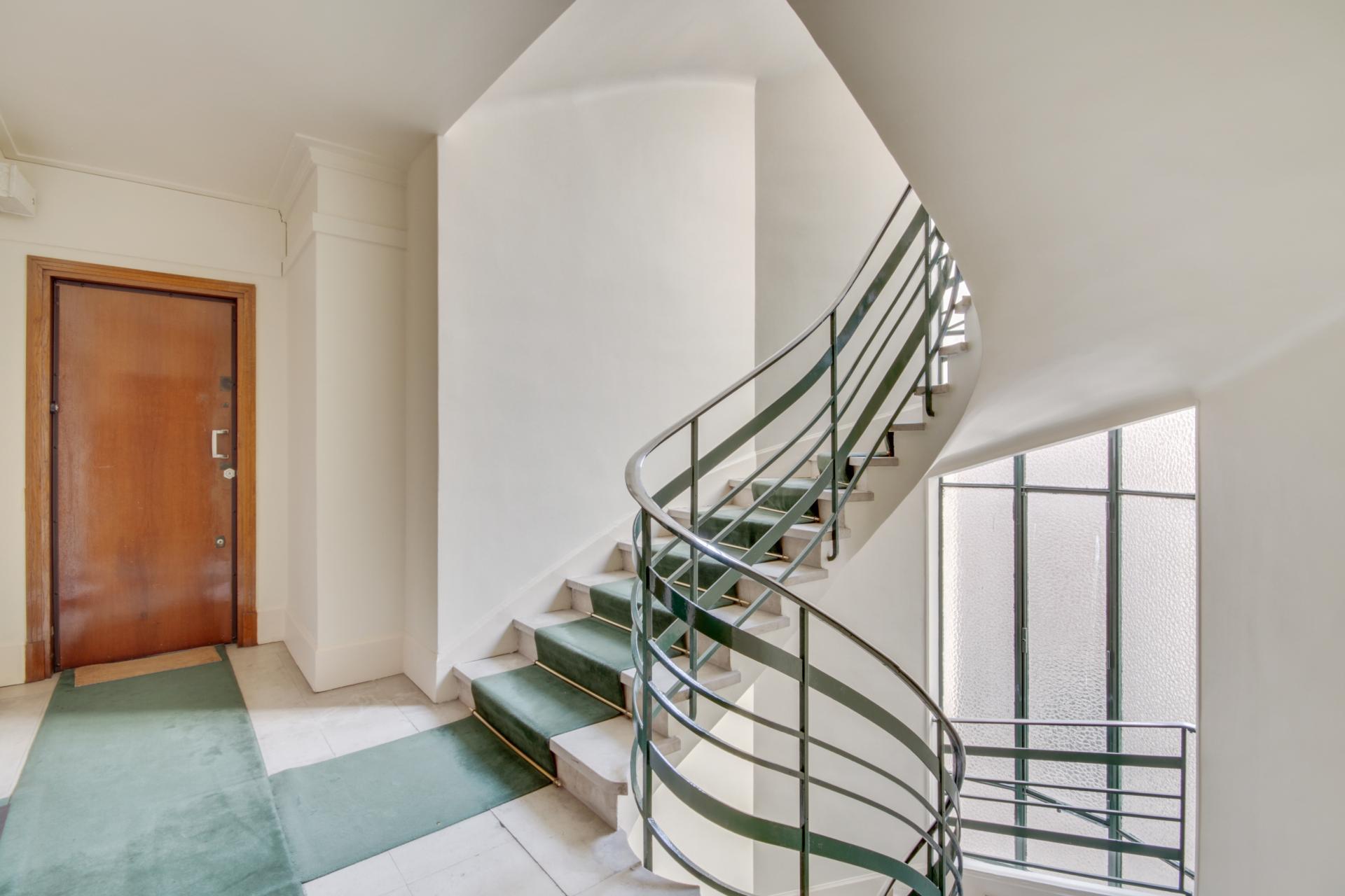 Staircase at Rue Saint-Marc Apartments