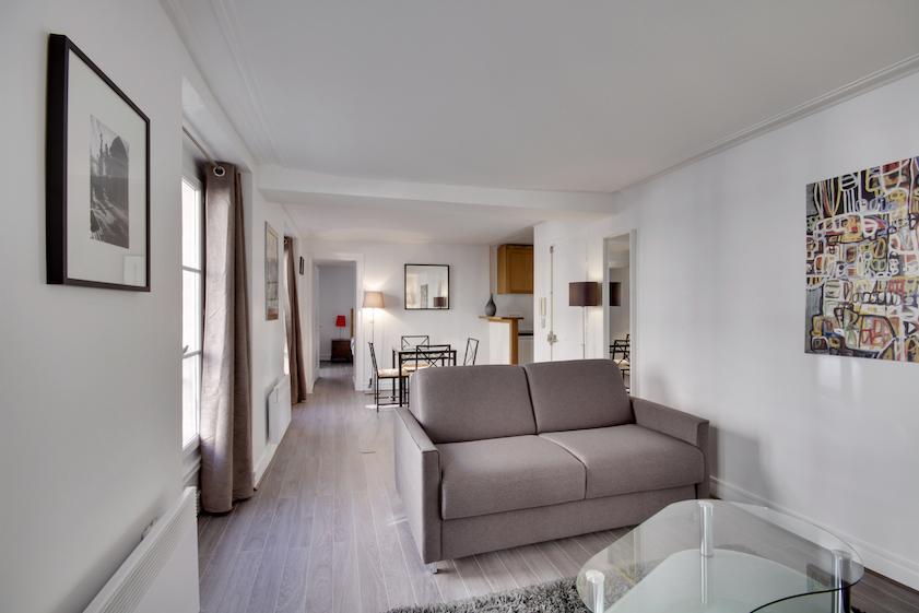 Living room at Rue Saint-Marc Apartments