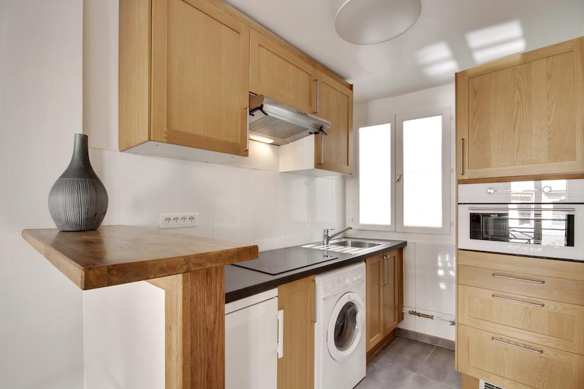 Kitchen at Rue Saint-Marc Apartments