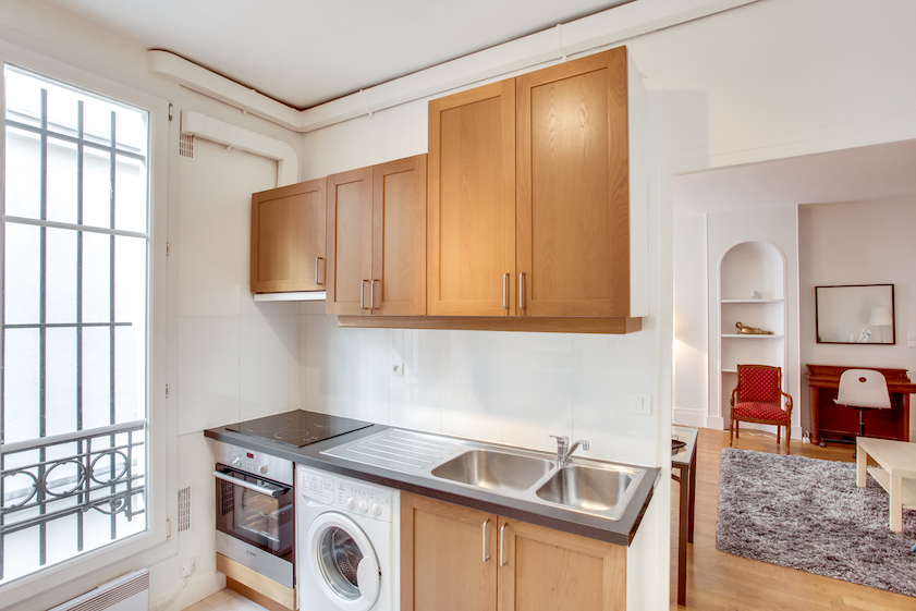 Kitchen at Rue Jean Beausire Apartment