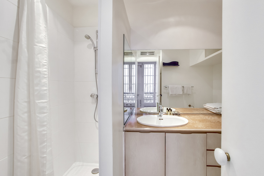 Bathroom at Rue Jean Beausire Apartment
