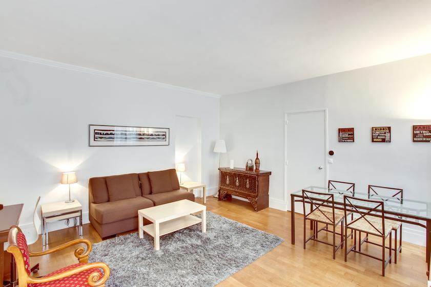 Sofa at Rue Jean Beausire Apartment