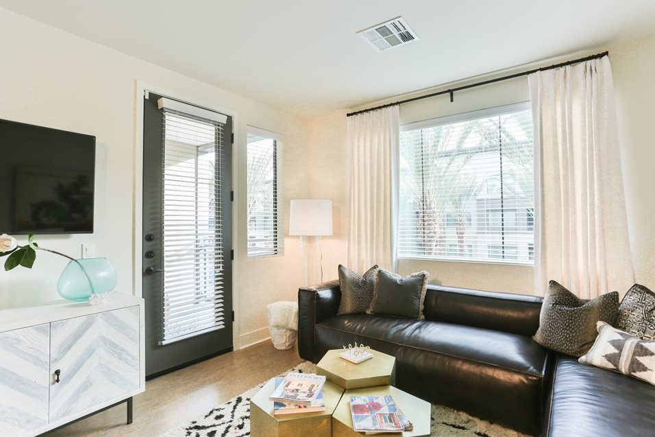 Living room at Broadstone Chandler Fashion Center Apartment