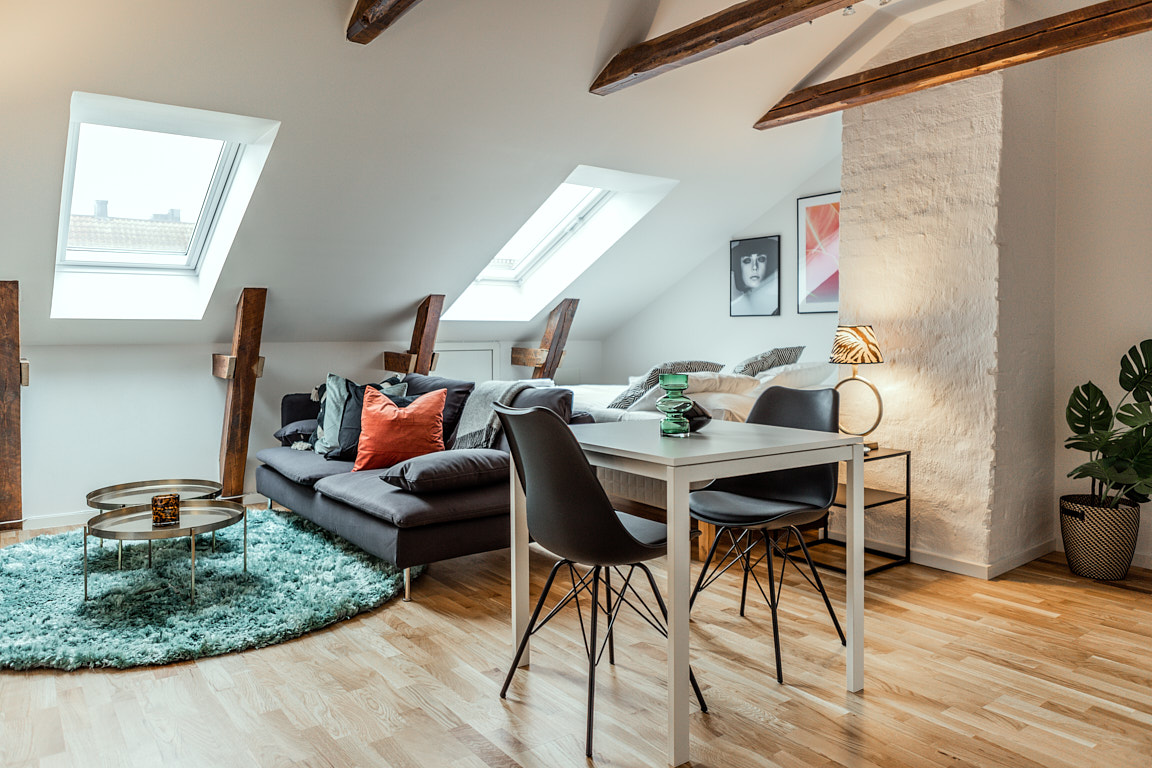 Living space at Osbygatan Apartment, Norra Sofielund, Malmö