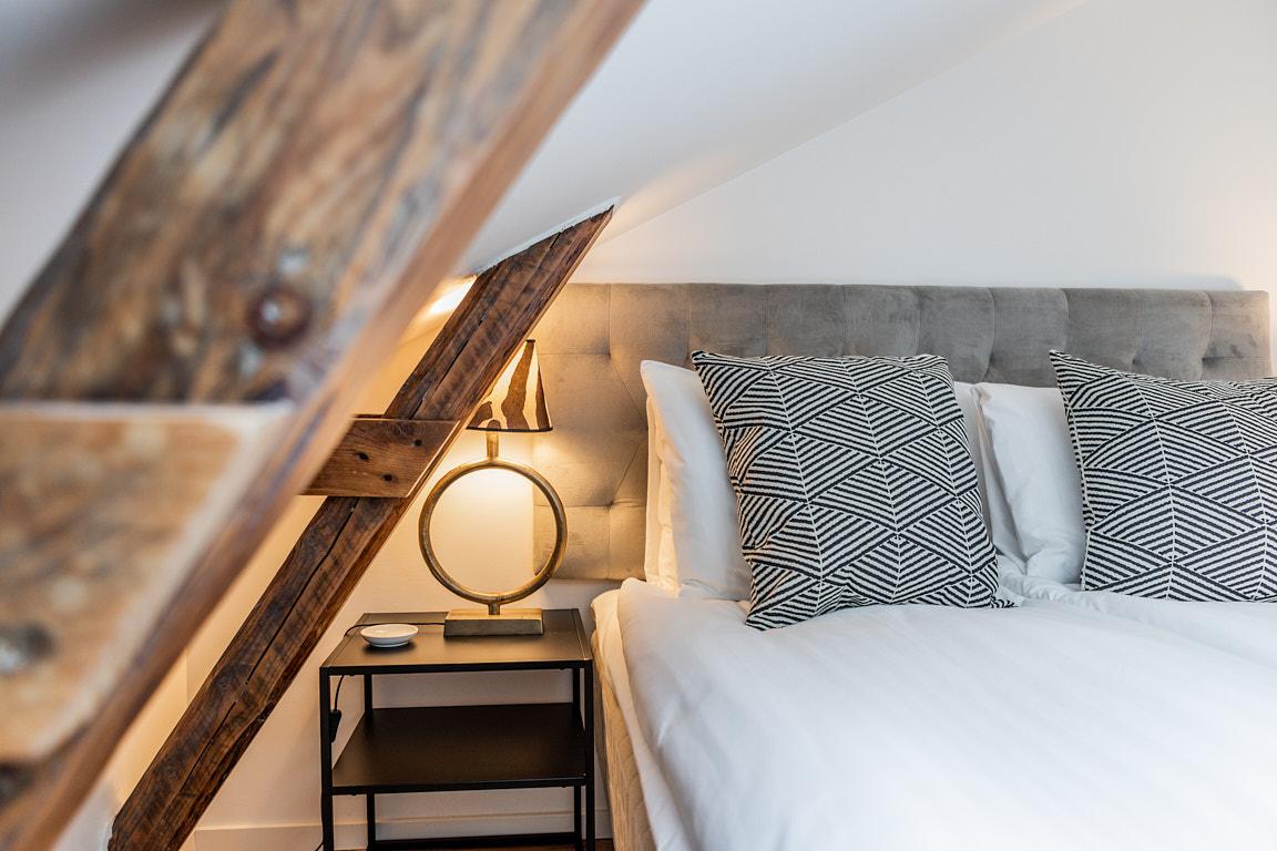 Bed at Osbygatan Apartment, Norra Sofielund, Malmö