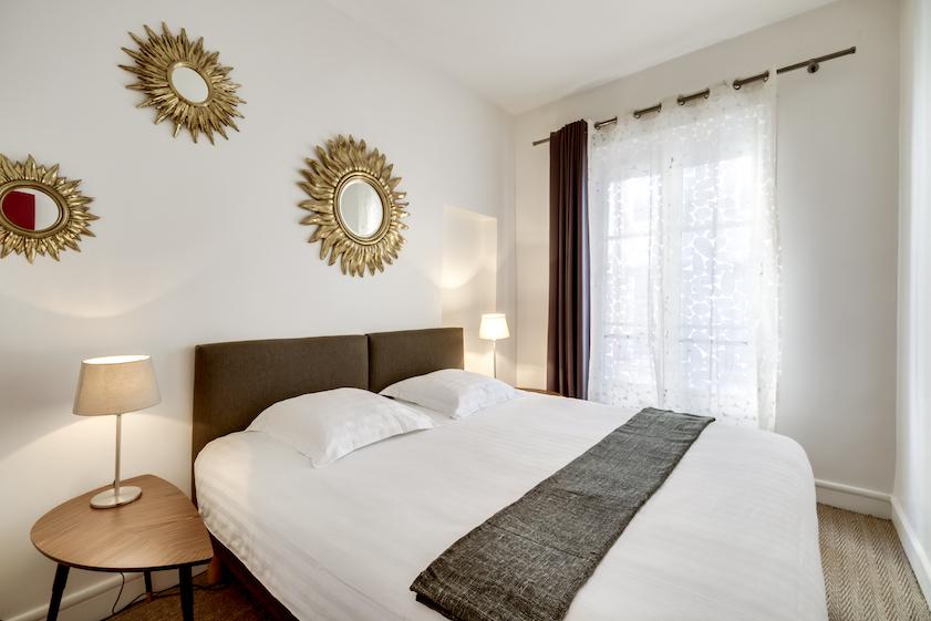 Bedroom at Rue Tiquetonne Apartment