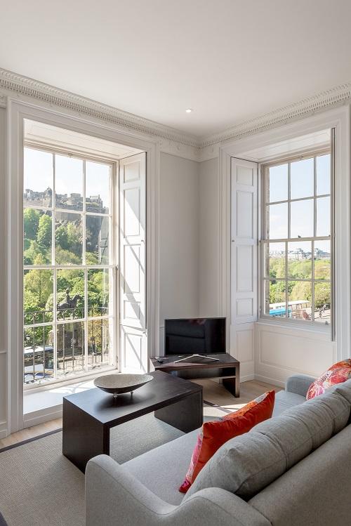 Bright lounge at Chisholm Hunter Suites