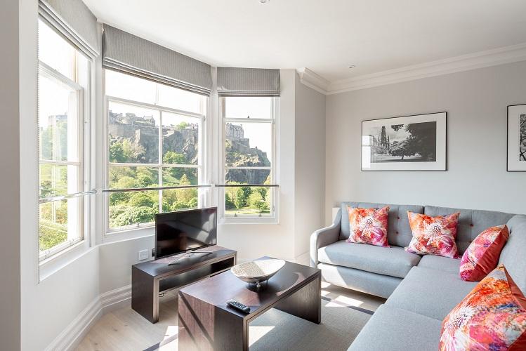 Living room at Chisholm Hunter Suites