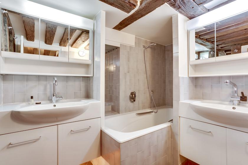 Bathroom at Rue Vieille Du Temple Apartments