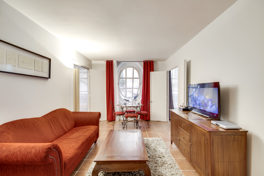 Living room 2 at Rue Vieille Du Temple Apartments