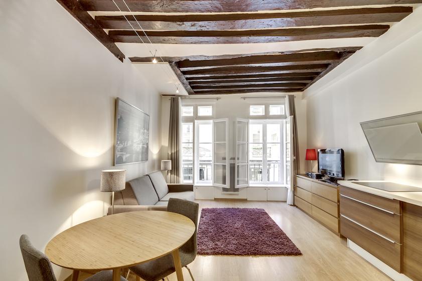 Rug at Rue Vieille du Temple Apartments, Le Marais, Paris