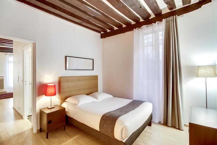 Bedroom at Rue Vieille Du Temple Apartments