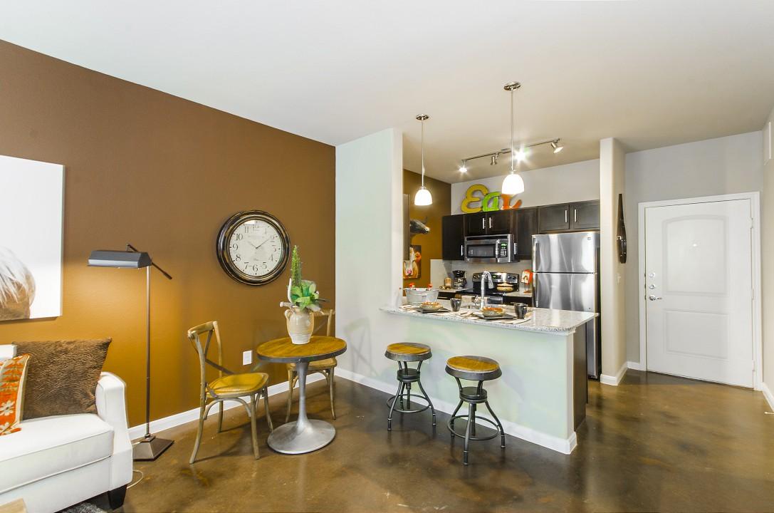 Kitchen at Legacy Brooks Apartments