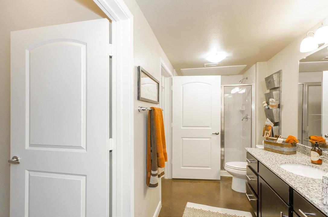 Bathroom at Legacy Brooks Apartments