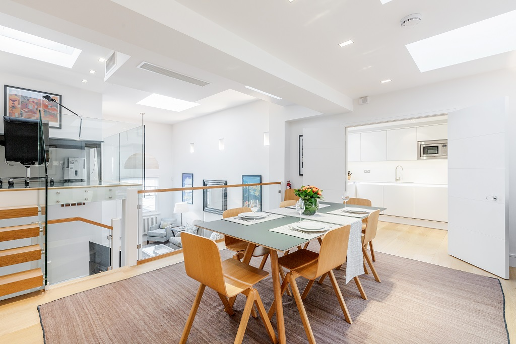 Dining area at Snow on The Slopes Apartments