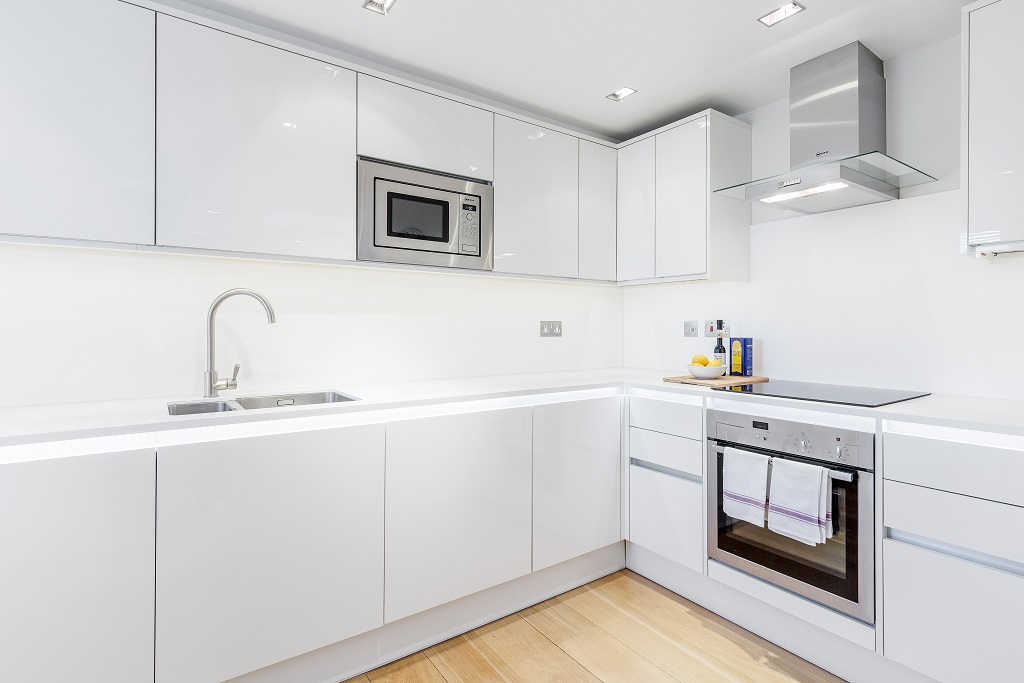 Modern kitchen at Snow on The Slopes Apartments