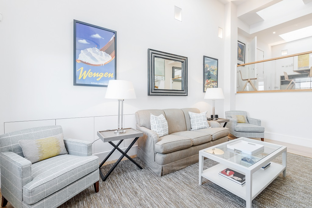 Stylish lounge at Snow on The Slopes Apartments
