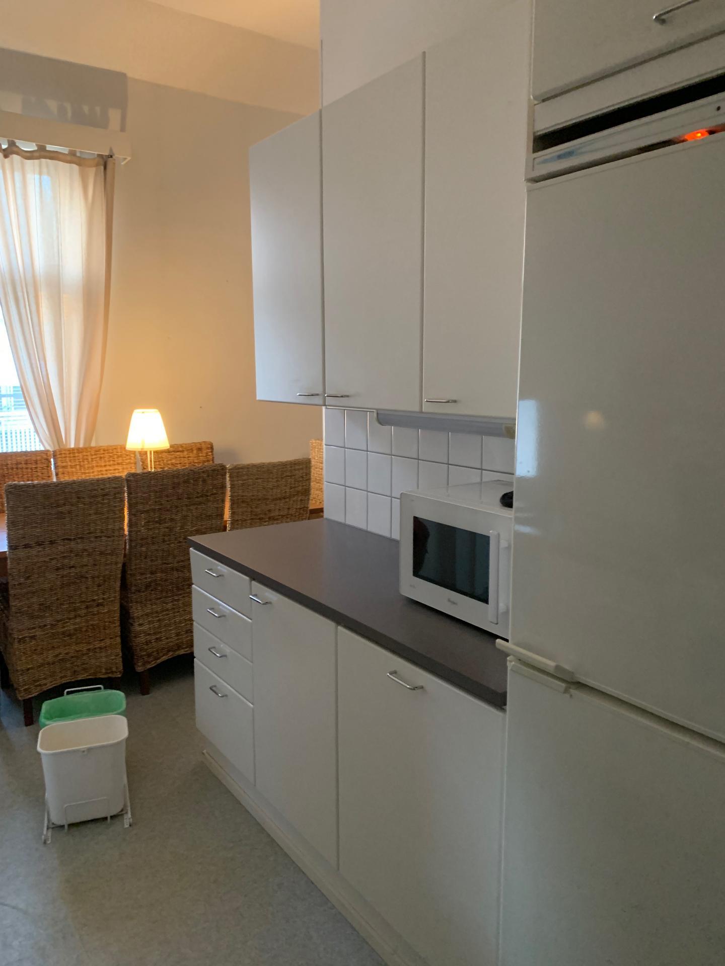 Kitchen at Pikkuympyräkatu Apartments