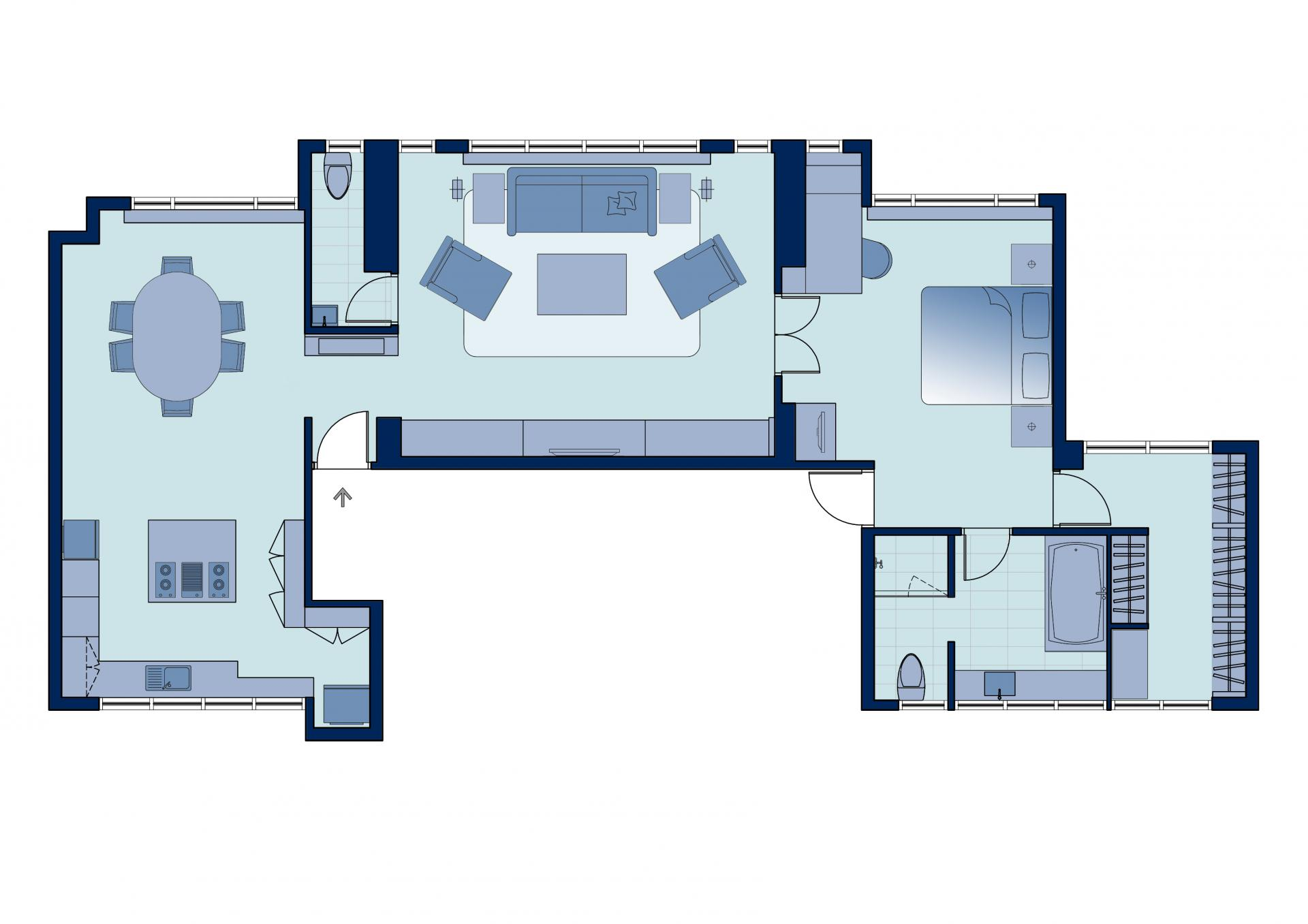 Floor plan 4 at Peel Street Central Apartments