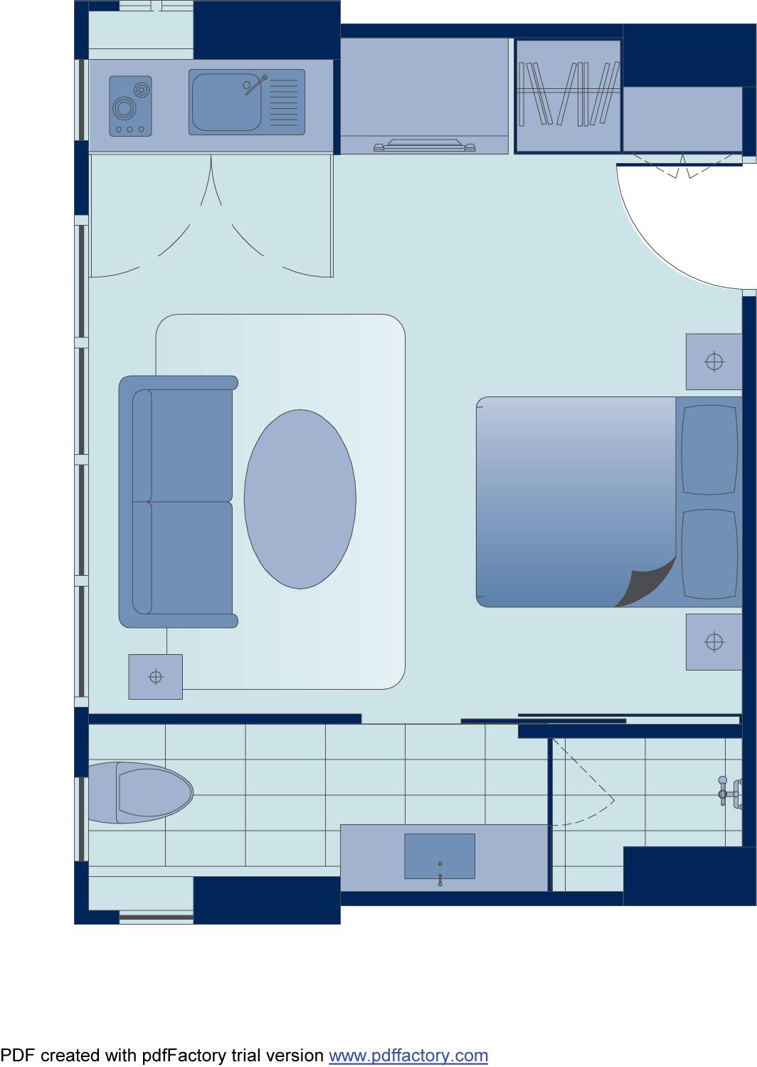 Floor plan 1 at Peel Street Central Apartments