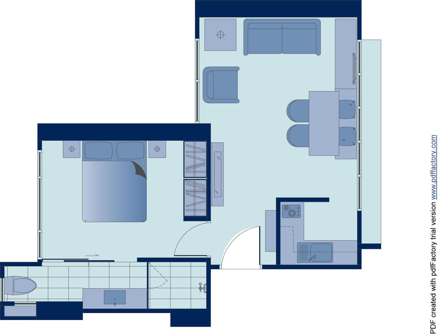 Floor plan 6 at Peel Street Central Apartments
