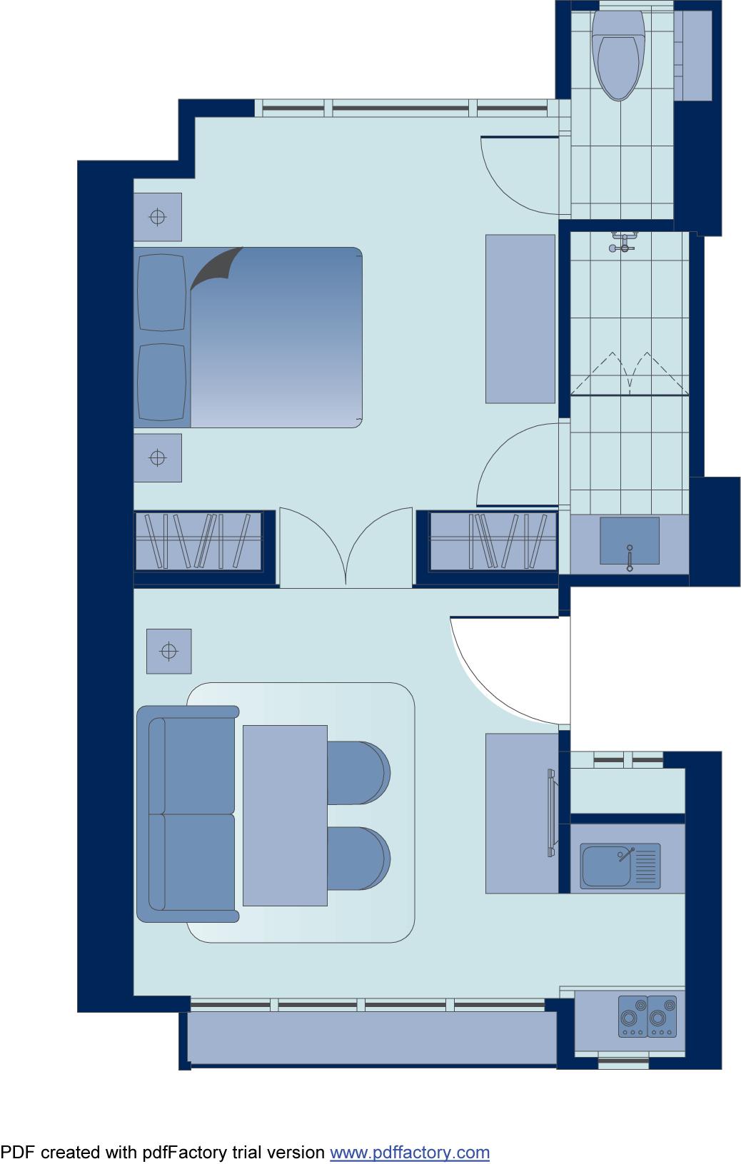 Floor plan 3 at Peel Street Central Apartments